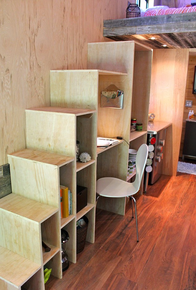 25-year-old Joel Weber Tiny House Stairs