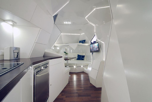 A Futuristic Wonder On wheels Geometric Interior