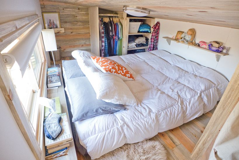 American web designer alek lisefski tiny house on wheels bed