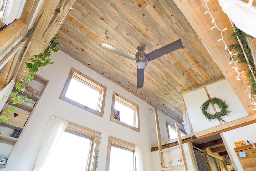 American web designer alek lisefski tiny house on wheels ceiling