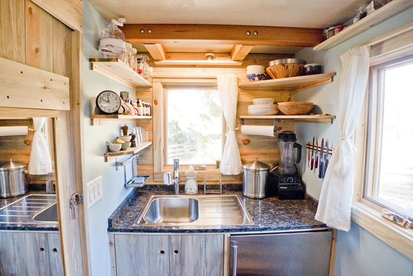 American Web Designer Alek Lisefski Tiny House On Wheels Kitchen