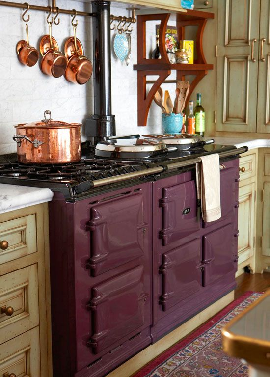 Aubergine and copper