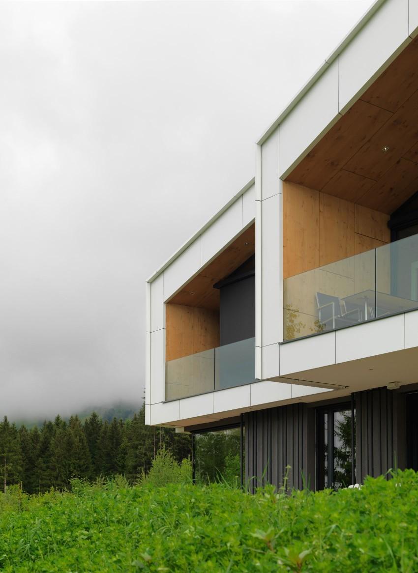 Austrian mountain retreat exterior terraces