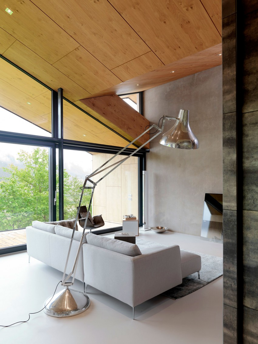 Austrian mountain retreat living room sofa