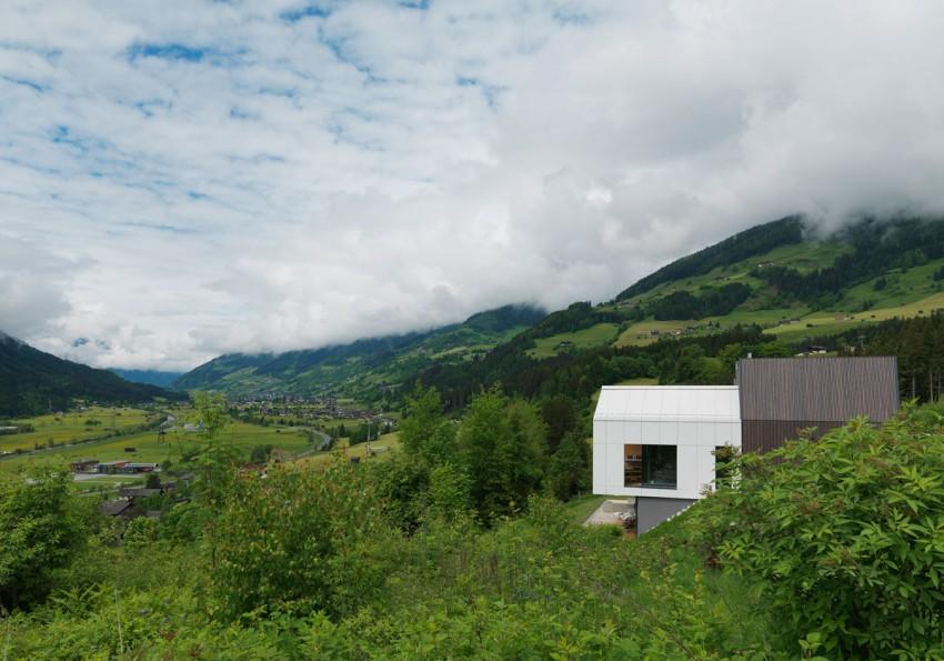Austrian mountain retreat placed in landscape