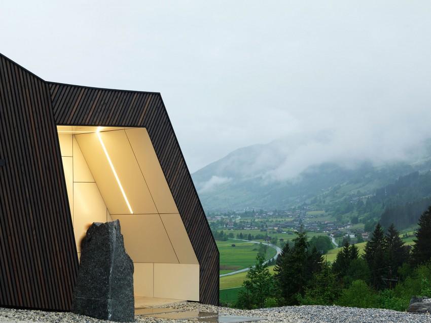 Austrian mountain retreat unconventional architecture