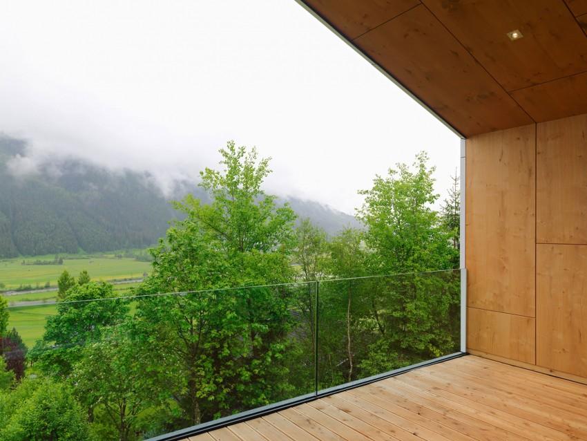 Austrian mountain retreat view from terrace