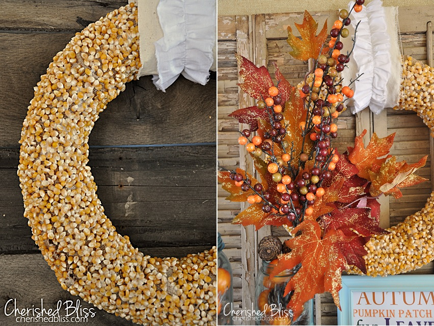 Autumn popcorn wreath