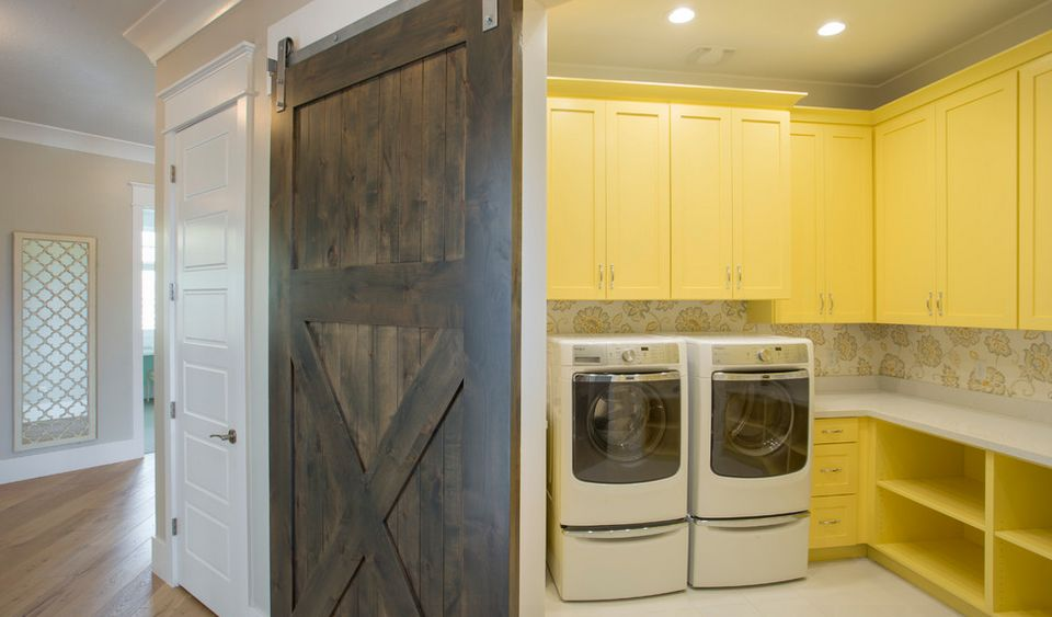 Barn doors for laundry room