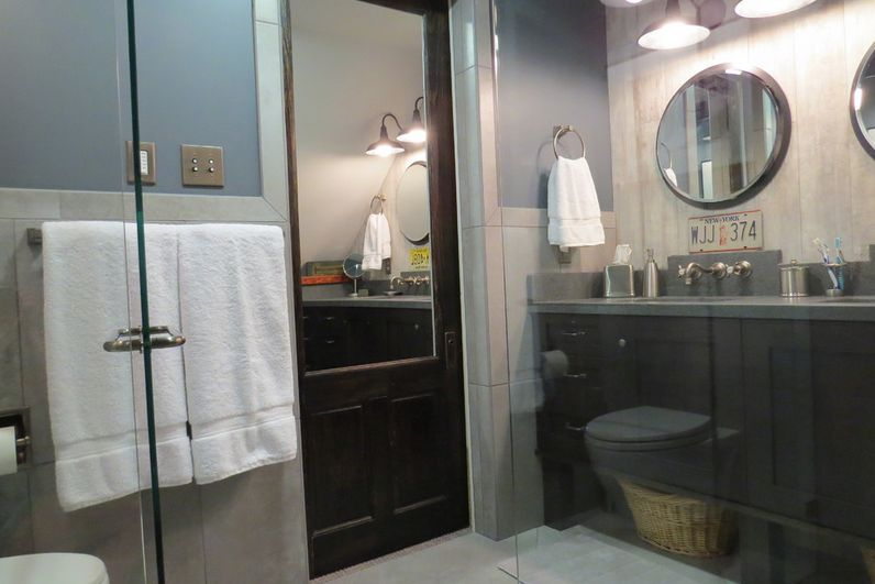 Bathroom door with built in mirror & Your Best Options When Choosing A Bathroom Door Type