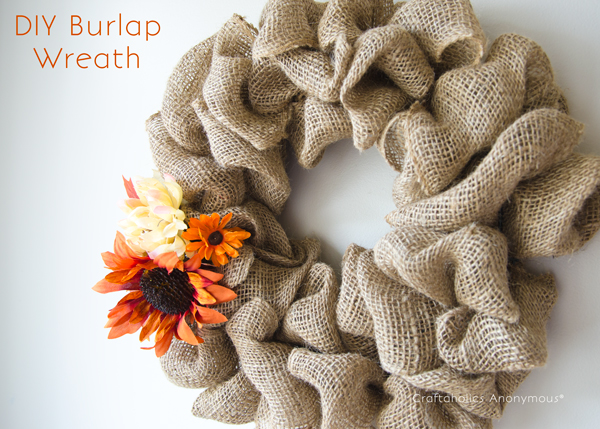 Burlap Wreath DIY
