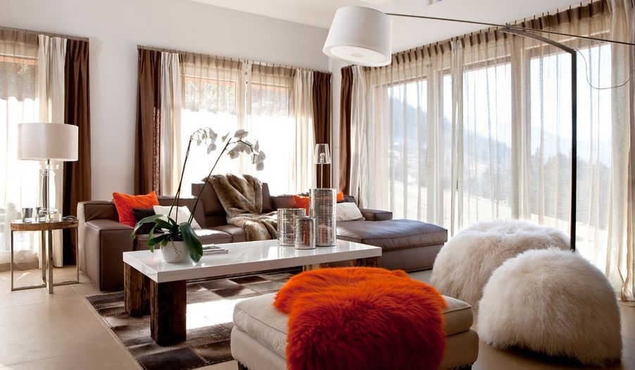 Burn orange decor accents