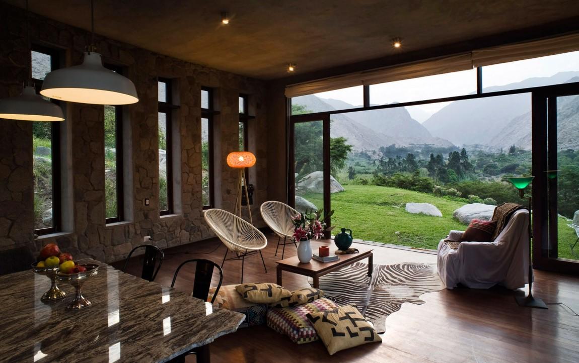 Casa Chontay living area large windows