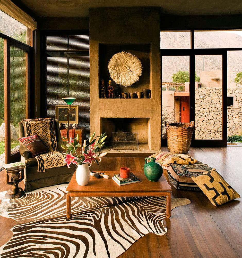 Casa Chontay use of natural materials inside
