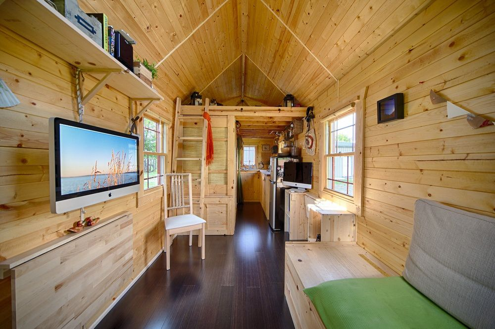 Christopher And Melissa Tack Tiny House On Wheels Custom Furniture
