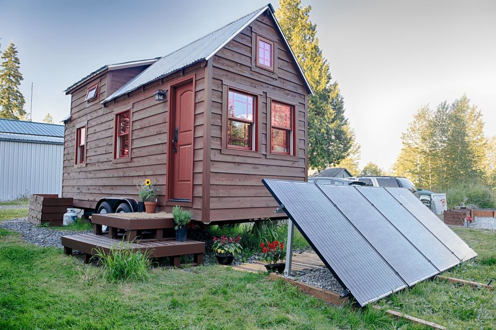 Christopher And Melissa Tack Tiny House On Wheels Exterior
