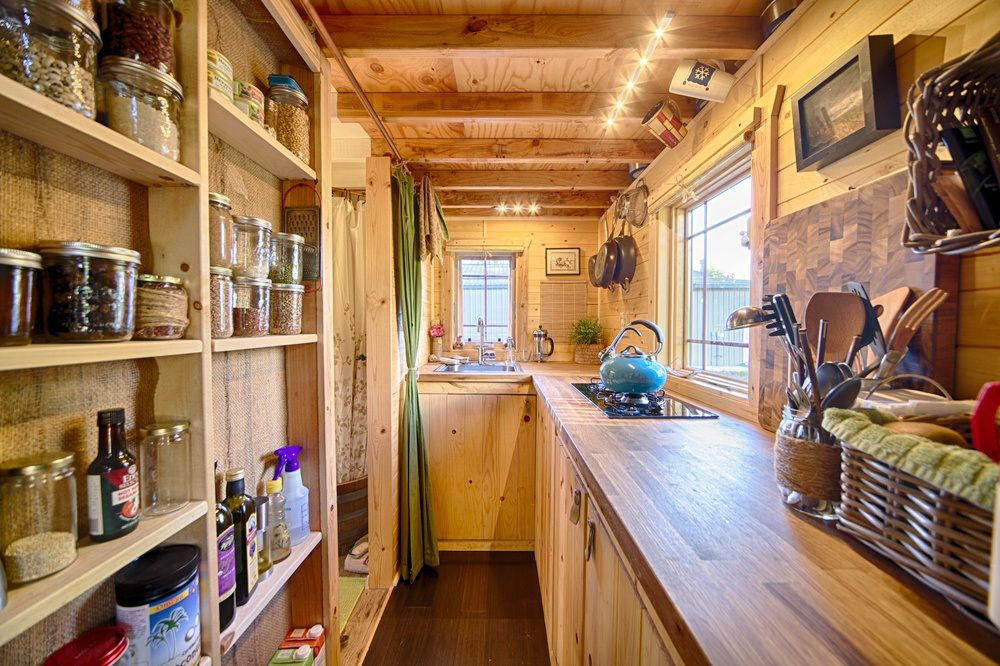 Christopher and Melissa Tack Tiny House on Wheels Kitchen