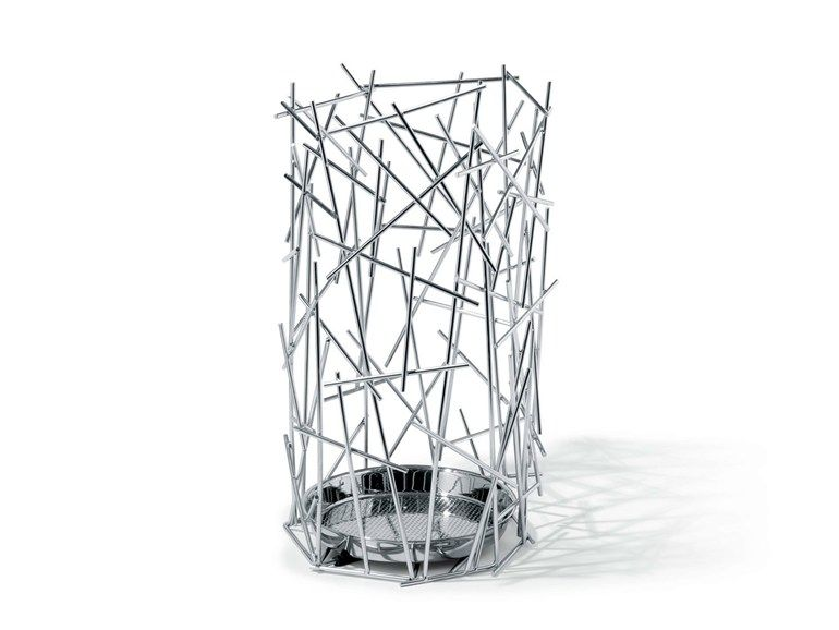 Chrome plated steel umbrella stand