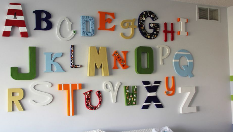 Bedroom Decor Letters how to decorate the walls with wood and metal letters