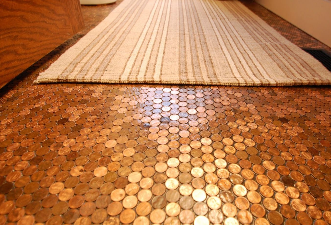 Cool pennies floor tile