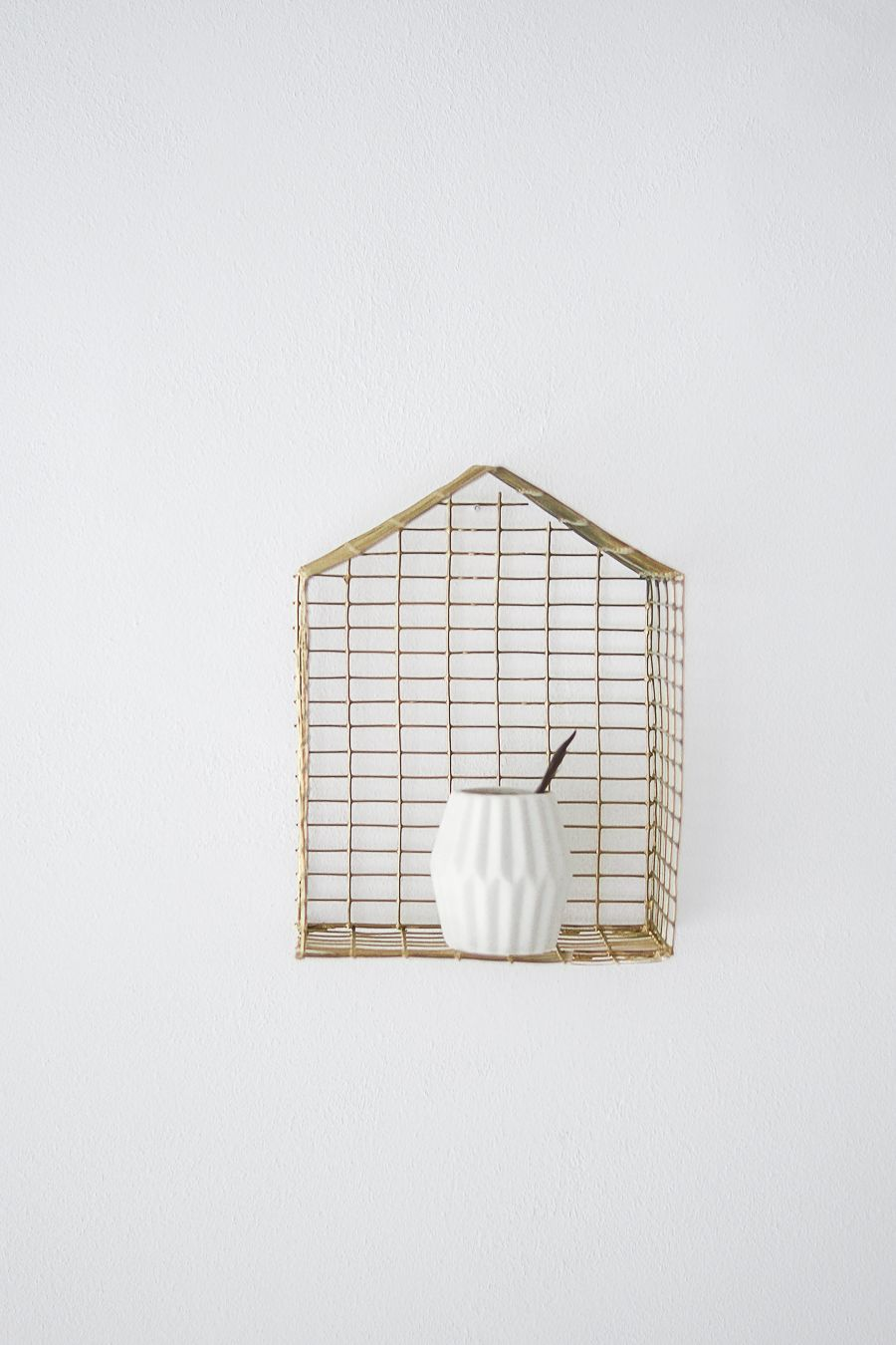 DIY Brass Shaped House Shelf