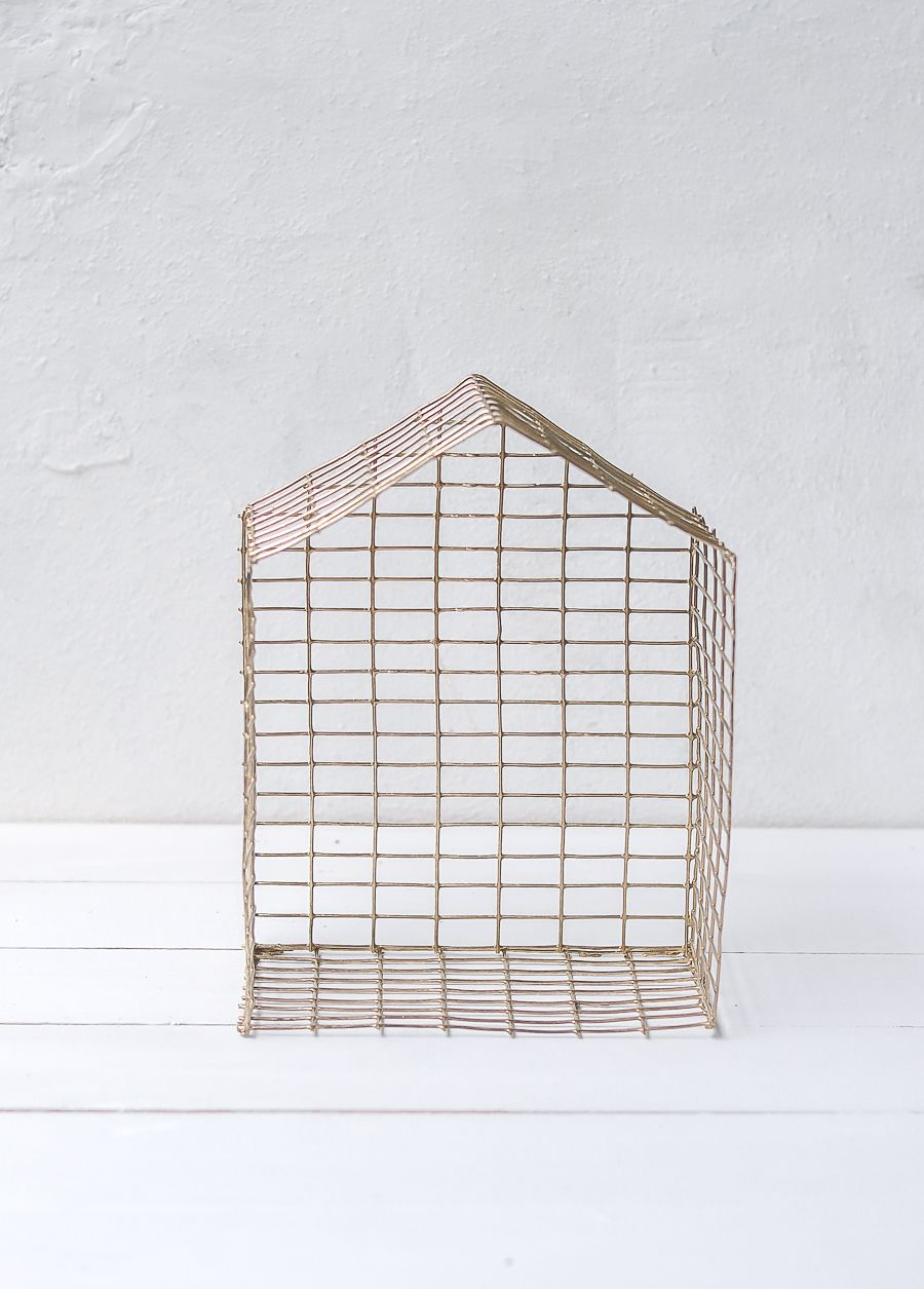 DIY Brass Shaped House let it dry