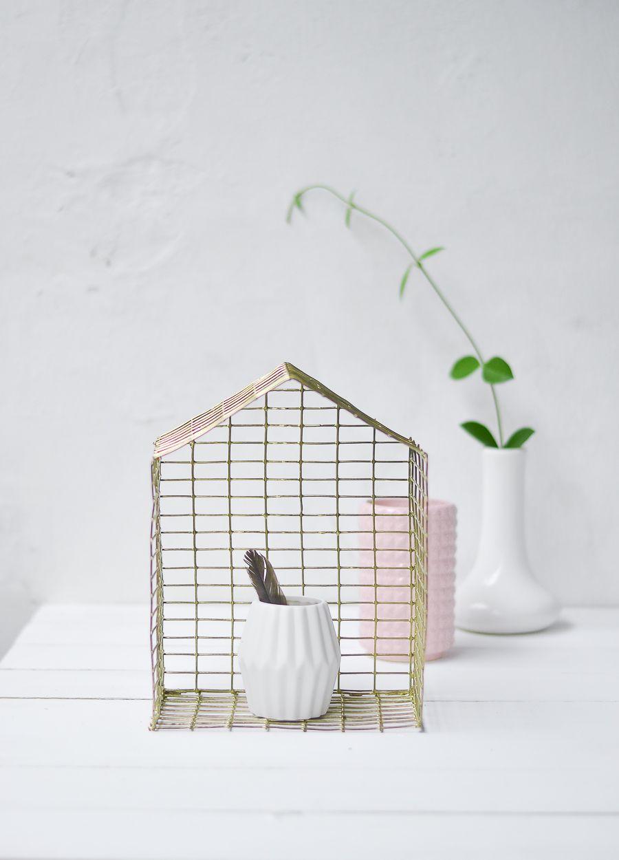 DIY Brass Shaped House
