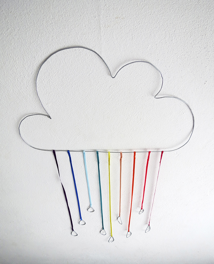 DIY Rainbow Cloud Art for Wall Bedroom
