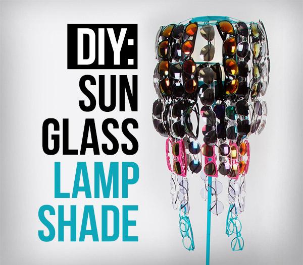 DIY Sunglass Chandelier