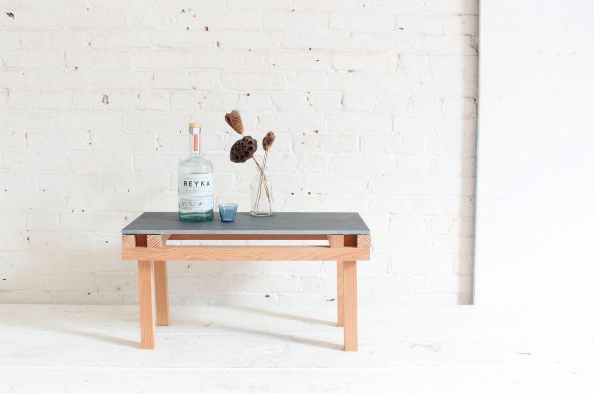 DIY Tile Table Vodka Display