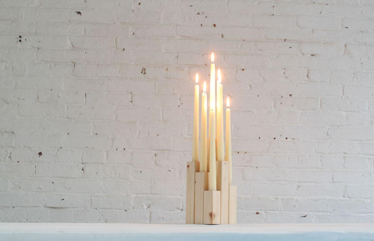 DIY Wood Candelabra Minimalist