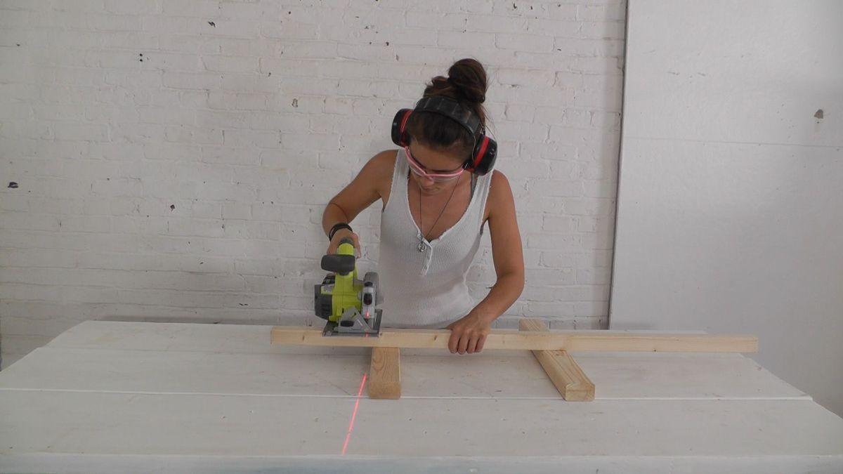 DIY Wood Candelabra- circular tool