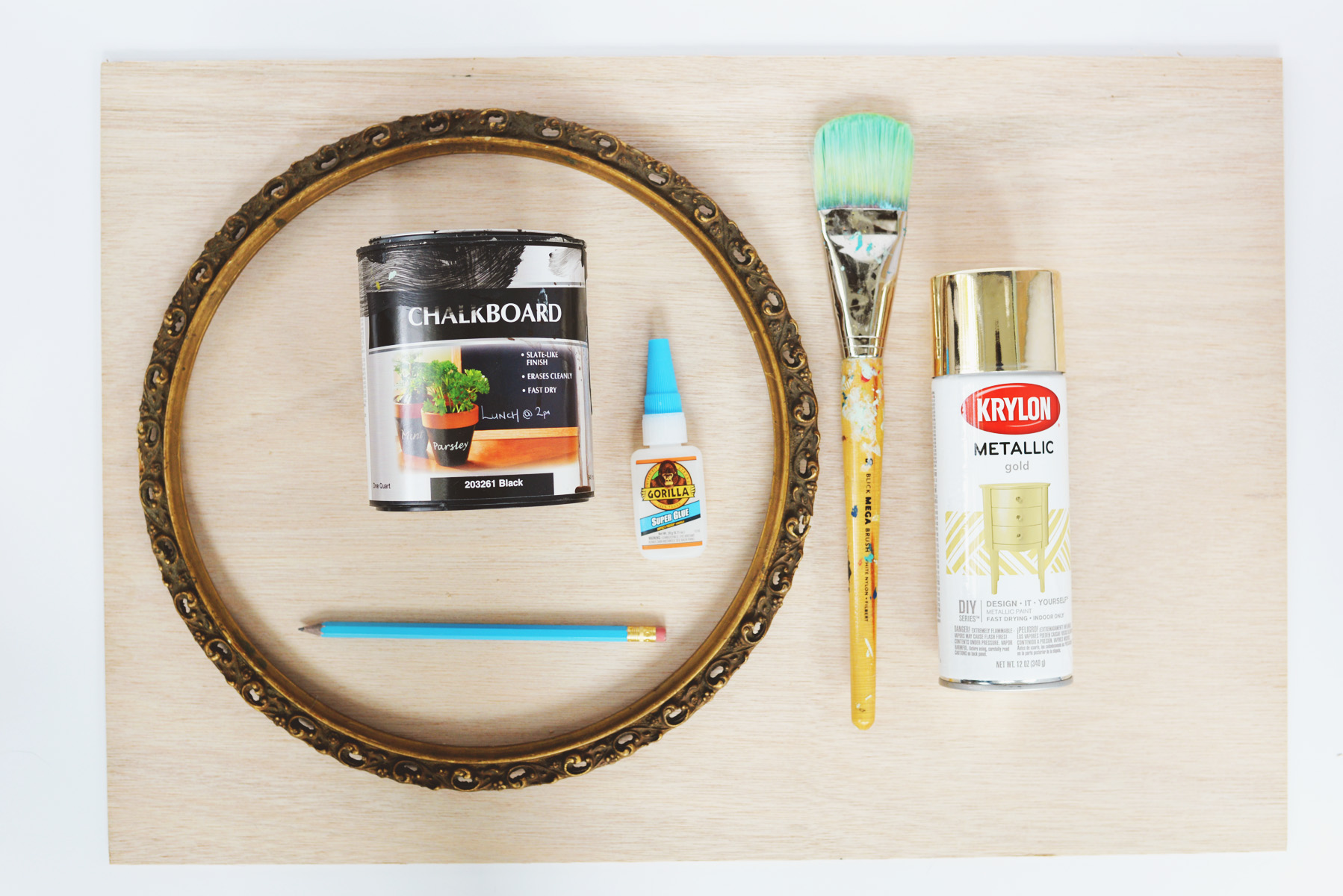 DIY chalkboard supplies