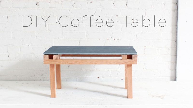 DIY Patio Coffee Table With Wood Base and Tile Top