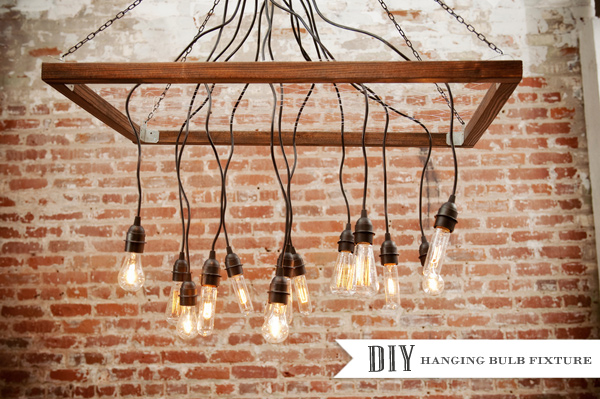 Diy chandeliers that will light up your day for Diy edison light fixtures
