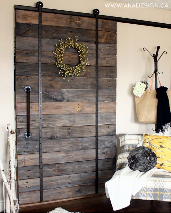 DIY Reclaimed Wood Sliding Barn Door