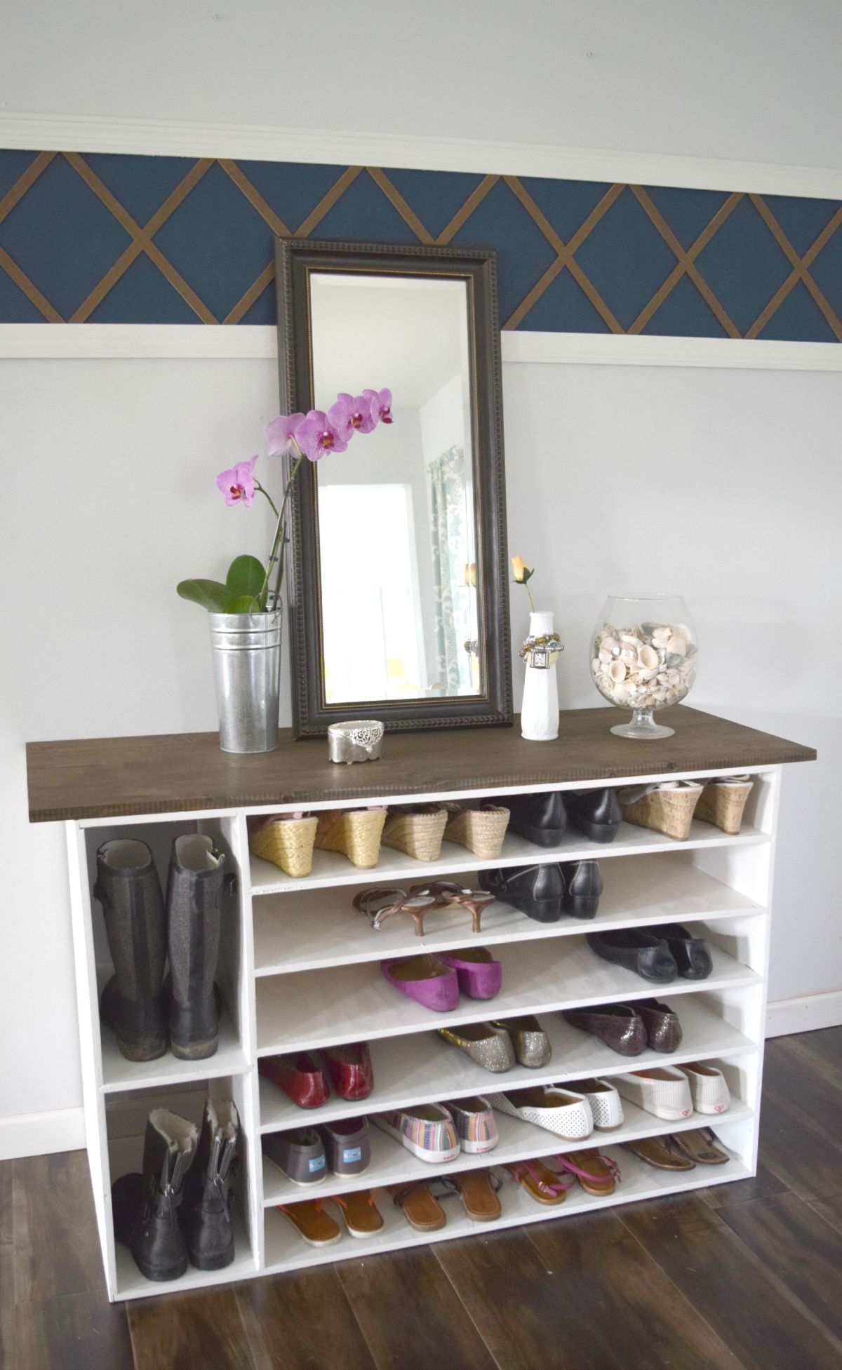 Stylish diy shoe rack perfect for any room Living room shoe storage ideas