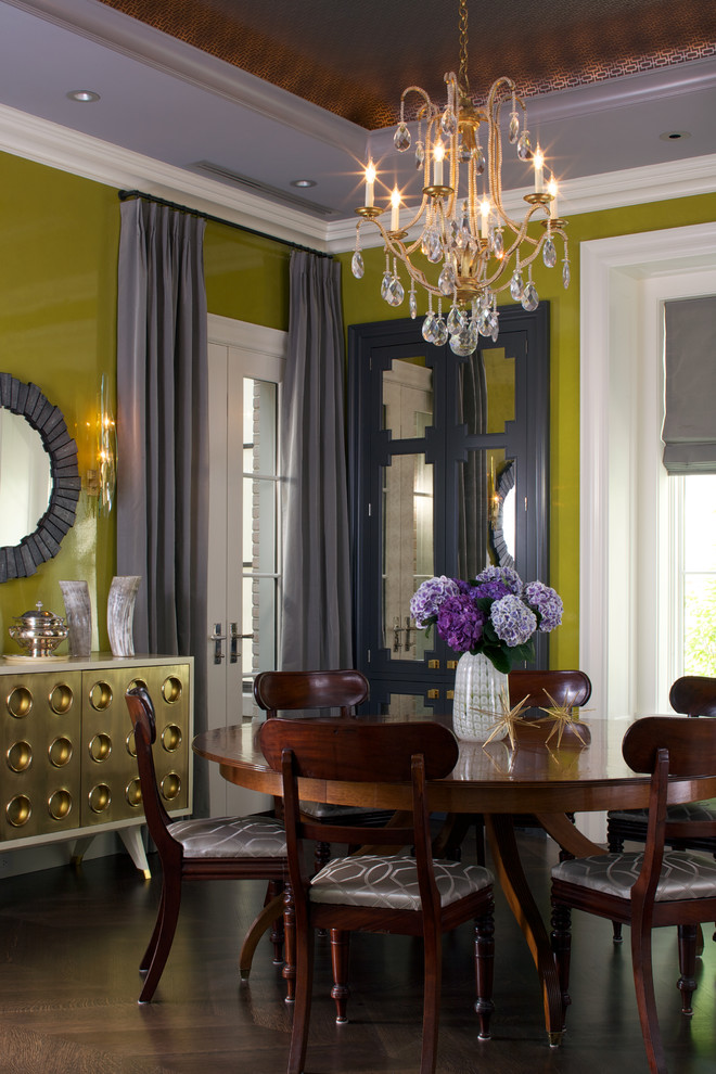 Dramatic high-gloss chartreuse