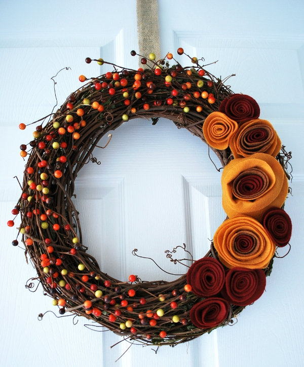 Felt Wreath for Welcoming Fall