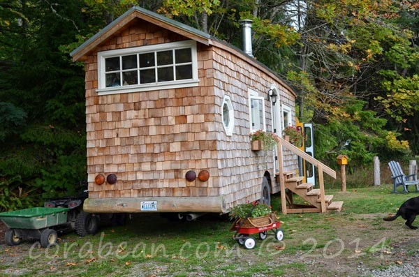 From school bus to house on wheels exterior