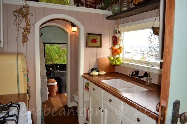 From school bus to house on wheels interior