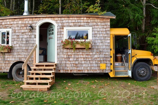 From school bus to house on wheels