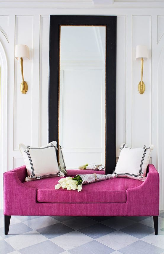 Fuchsia Sofa Decor