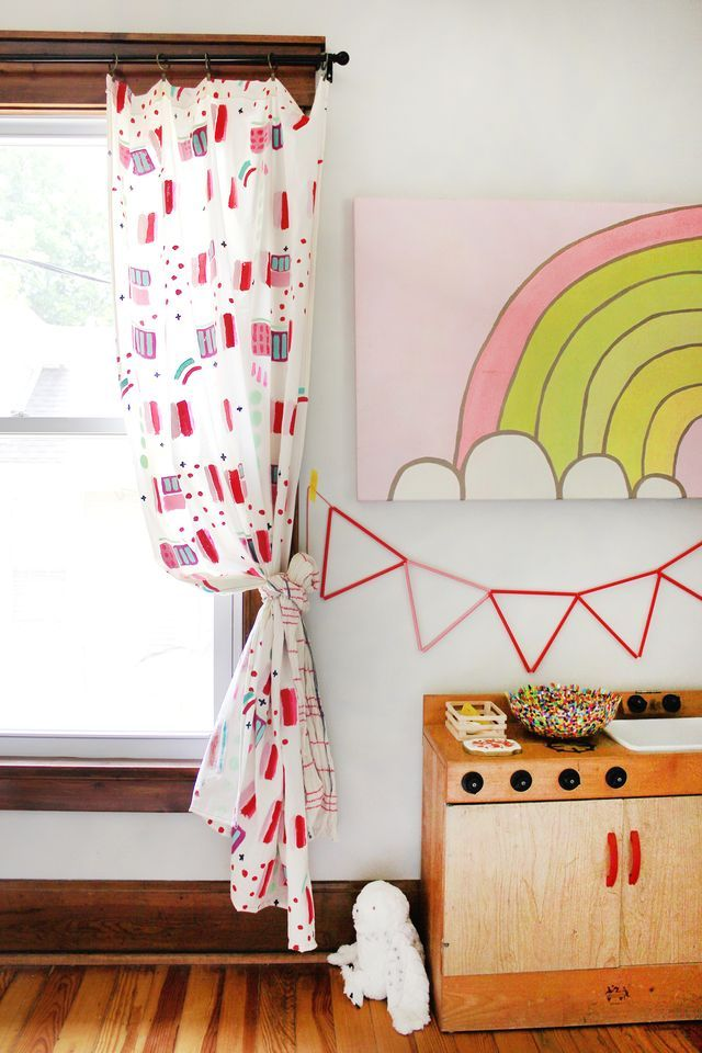 Hand painted curtains
