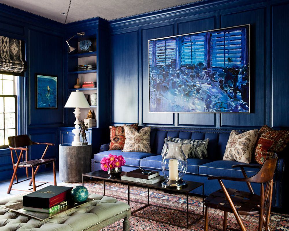 High Gloss Indigo Paint For Living Room