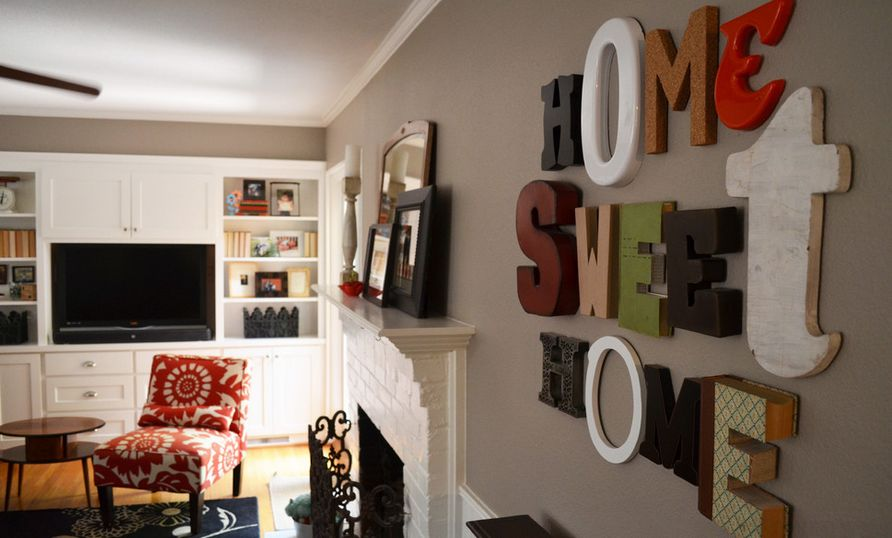 To decorate the walls with wood and metal letters home sweet home diff letters ppazfo