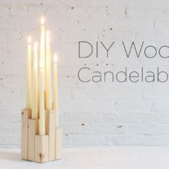 Marvelous DIY Wood Candelabra: High Style At Low Cost