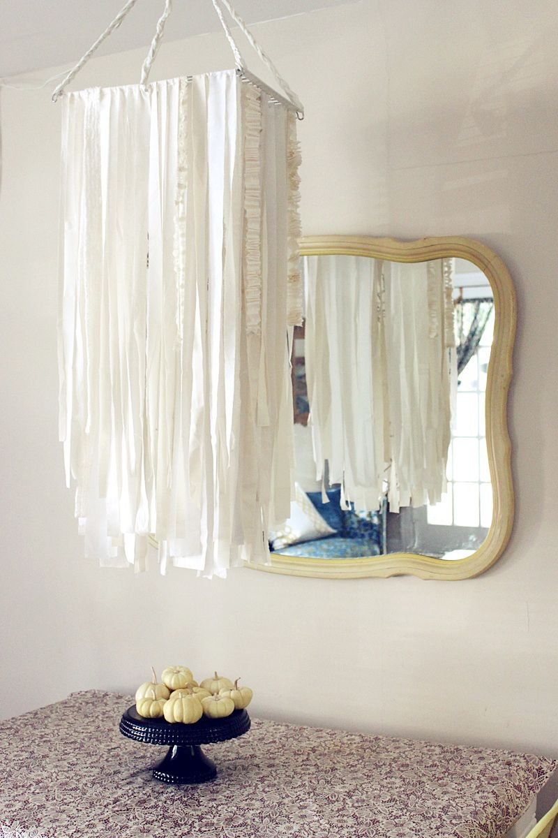 Diy chandeliers that will light up your day how to make a chandelier from fabrics arubaitofo Choice Image