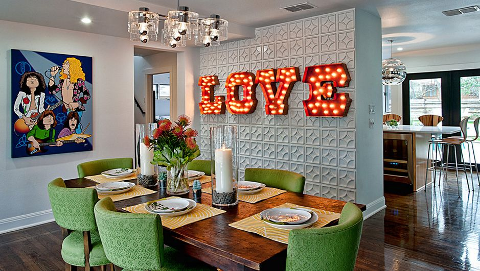 LOVE sign for dining room