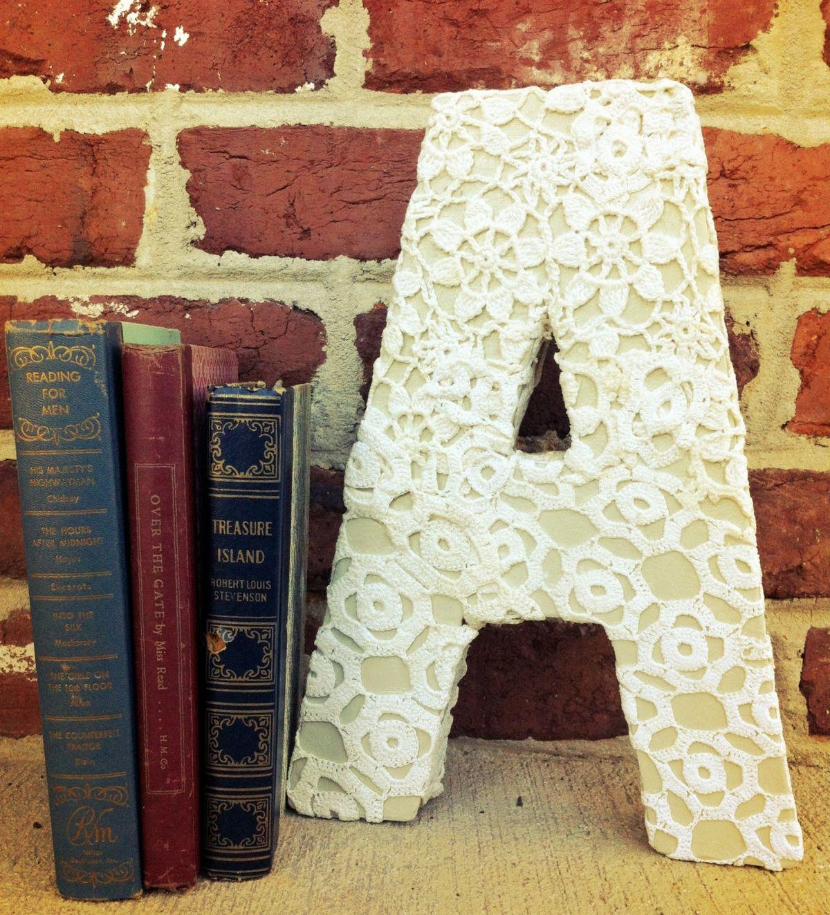 Lace monogram letter